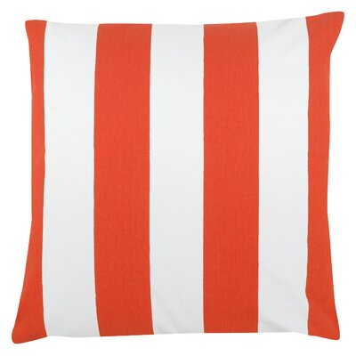 Awning Stripe 100% Cotton Pillow Cover Color: Orange