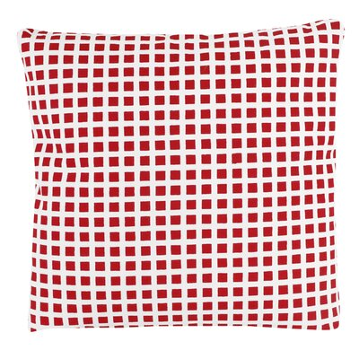 Checkered 100% Cotton Pillow Cover Color: Red