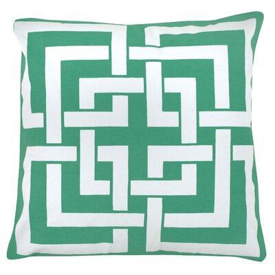 Greek Key 100% Cotton Pillow Cover Color: Green