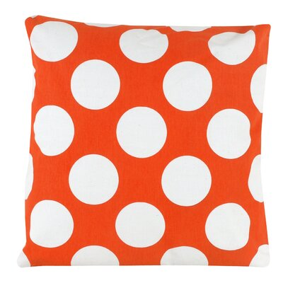 Large Dot 100% Cotton Pillow Cover Color: Orange