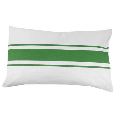 Stripe 100% Cotton Pillow Cover Color: Green