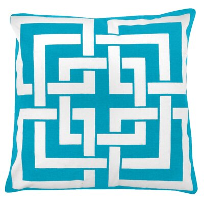 Greek Key 100% Cotton Pillow Cover Color: Turquoise