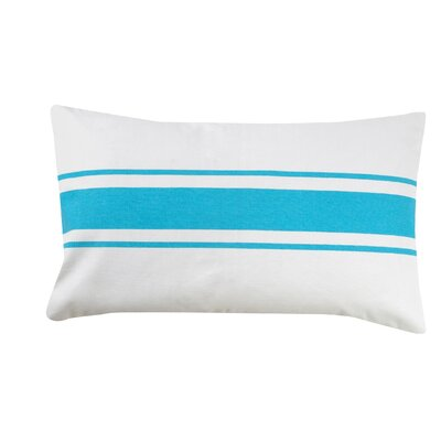 Stripe 100% Cotton Pillow Cover Color: Turquoise