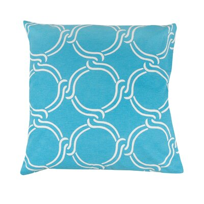 Circle Print 100% Cotton Pillow Cover Color: Turquoise