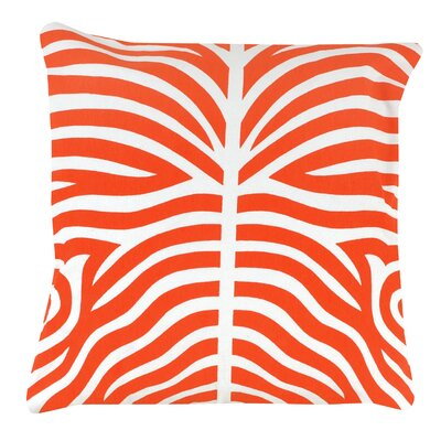 Zebra 100% Cotton Pillow Cover Color: Orange