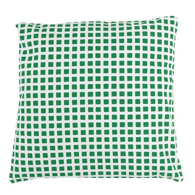 Checkered 100% Cotton Pillow Cover Color: Green