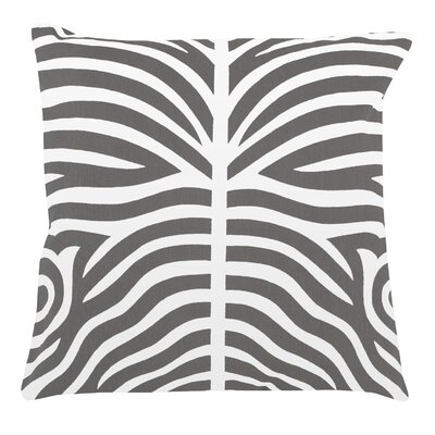 Zebra 100% Cotton Pillow Cover Color: Dark Gray