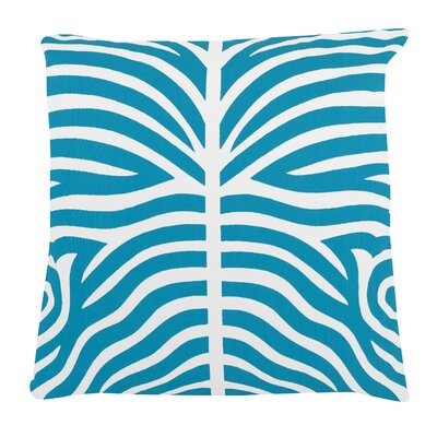 Zebra 100% Cotton Pillow Cover Color: Turquoise