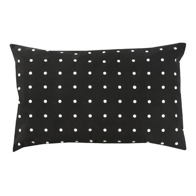 Dot 100% Cotton Pillow Cover Color: Black
