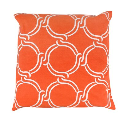 Circle Print 100% Cotton Pillow Cover Color: Orange