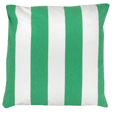Awning Stripe 100% Cotton Pillow Cover Color: Green