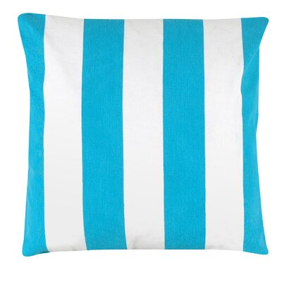 Awning Stripe 100% Cotton Pillow Cover Color: Turquoise