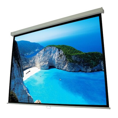Cinema White Manual Projection Screen Viewing Area: 100 Diagonal (49 x 87)