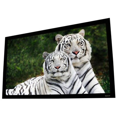 Elunevision Reference Studio AudioWeave 4K White Fixed Frame Projection Screen Viewing Area: 100 Diagonal (49 x 87)