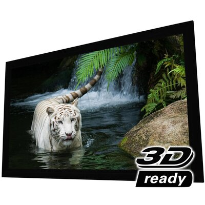 White Fixed Frame Projection Screen Viewing Area: 100 Diagonal