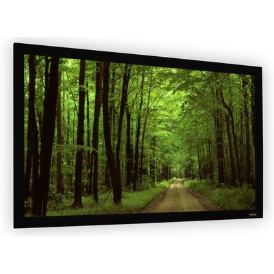 Perlux-Silver Fixed Frame Projection Screen Viewing Area: 106 Diagonal (52 x 92)