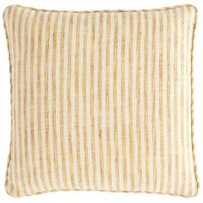 Adams Ticking Indoor/Outdoor Throw Pillow Color: Gold