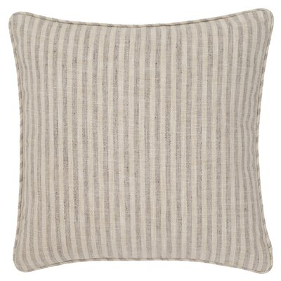 Adams Ticking Indoor/Outdoor Throw Pillow Color: Grey