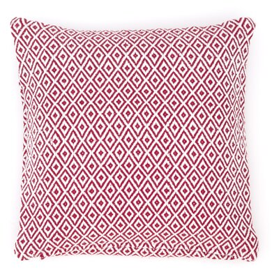 Crystal Outdoor Throw Pillow Color: Red