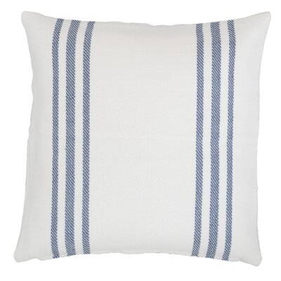 Lexington Indoor/Outdoor Throw Pillow Color: White / Denim