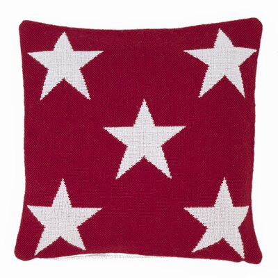 Star Outdoor Throw Pillow Color: Red / White