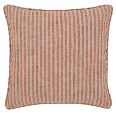 Adams Ticking Indoor/Outdoor Throw Pillow Color: Brick