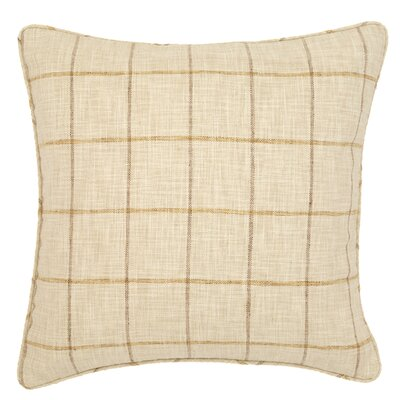 Chatham Tattersall Indoor/Outdoor Throw Pillow Color: Gold / Natural
