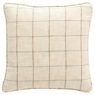 Chatham Tattersall Indoor/Outdoor Throw Pillow Color: Light Blue / Natural