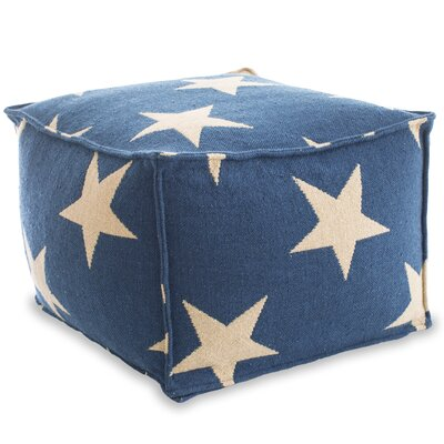Star Indoor/Outdoor Pouf Ottoman Upholstery: Navy / Camel