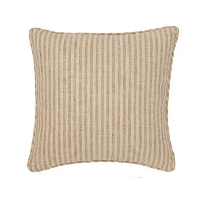 Adams Ticking Outdoor Throw Pillow Color: Natural