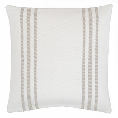 Lexington Outdoor Throw Pillow Color: White / Platinum