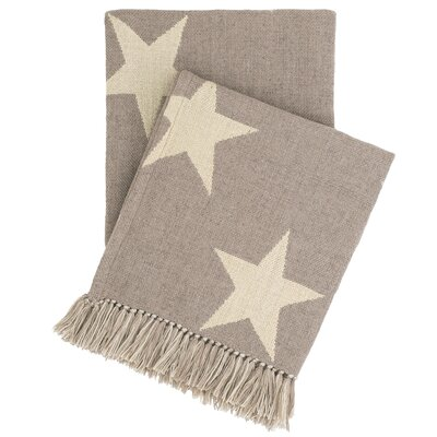 Star Indoor/Outdoor Throw Color: Grey / Ivory