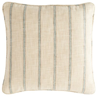 Glendale Stripe Outdoor Throw Pillow Color: Light Blue / Natural