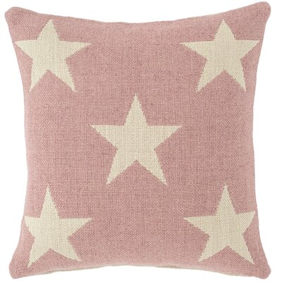 Star Indoor/Outdoor Throw Pillow Color: Pink / Ivory