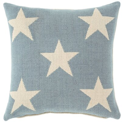 Star Outdoor Throw Pillow Color: Swedish Blue / Ivory
