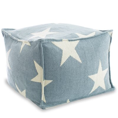 Star Indoor/Outdoor Pouf Ottoman Upholstery: Blue / Ivory