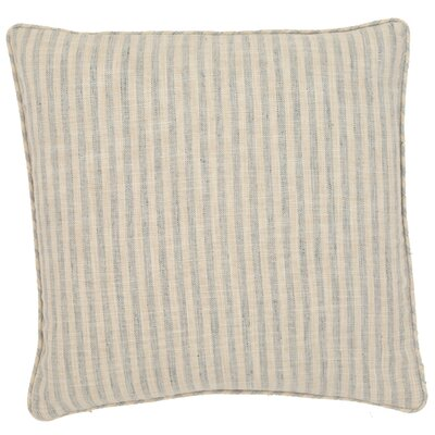Adams Ticking Outdoor Throw Pillow Color: Light Blue