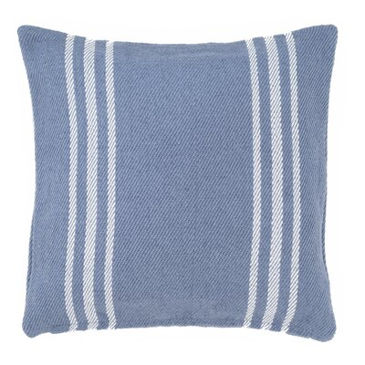 Lexington Indoor/Outdoor Throw Pillow Color: Denim / White