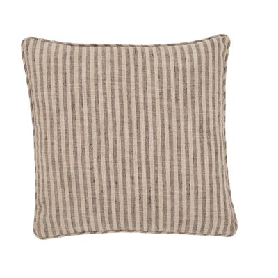 Adams Ticking Outdoor Throw Pillow Color: Brown