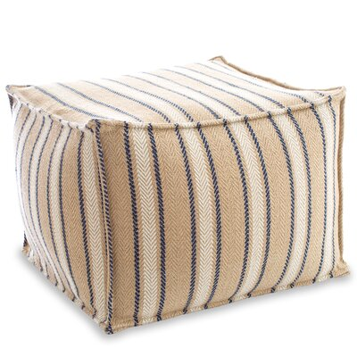 Cambridge Indoor/Outdoor Pouf Ottoman Upholstery: Navy