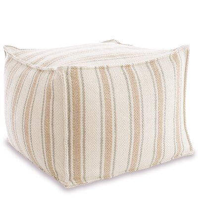 Cambridge Indoor/Outdoor Pouf Ottoman Upholstery: Ocean