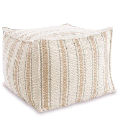 Cambridge Indoor/Outdoor Pouf Ottoman Upholstery: Ocean