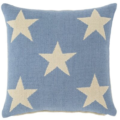 Star Outdoor Throw Pillow Color: French Blue / Ivory