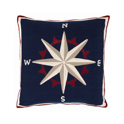 Compass Outdoor Throw Pillow