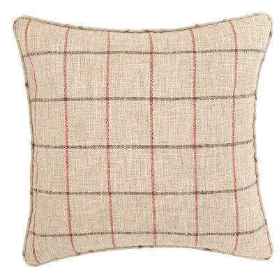 Chatham Tattersall Outdoor Throw Pillow Color: Brick / Brown