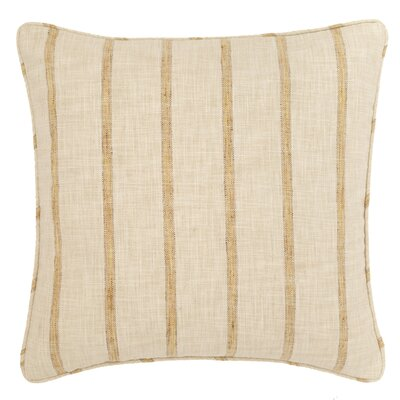 Glendale Stripe Indoor/Outdoor Throw Pillow Color: Gold / Natural