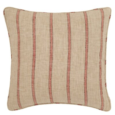 Glendale Stripe Outdoor Throw Pillow Color: Navy / Brown