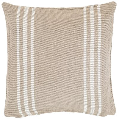 Lexington Outdoor Throw Pillow Color: Platinum / White