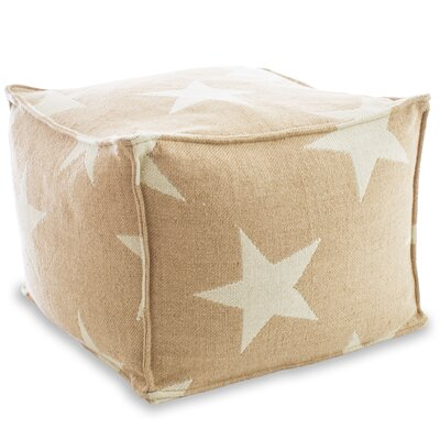 Star Indoor/Outdoor Pouf Ottoman Upholstery: Camel / Ivory