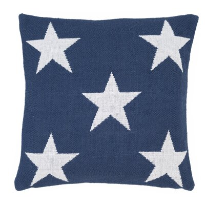 Star Outdoor Throw Pillow Color: Navy / White